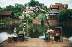 Lavander Wedding Wedding ceremony by JennyArt Style: rustic