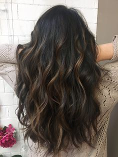 balayage hair Cabelo Preto com Luzes + - haar Bayalage, Balayage Brunette, Brunette Hair, Balayage Hair, Dark Balayage, Short Balayage, Cabelo Ombre Hair, Hair Images, Hair Highlights