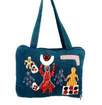 Story Telling Kutch Applique Laptop Bag