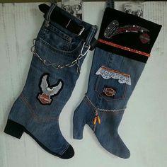 Jean Christmas stockings