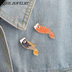 92d63f143 US $0.89 25% OFF|QIHE JEWELRY Enamel pins Nishikigoi Japanese Fish Koi Fish  Pin Vintage Bijoux Broche Femme Male Unisex jewelry-in Brooches from  Jewelry ...