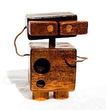 Cute Leftover Wooden Robots