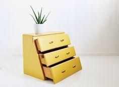 Vintage Wooden Three Drawer Cabinet