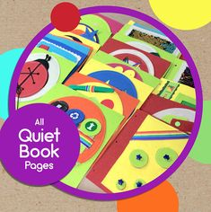 Quiet Book Pages for TinyFeats Activity Book Individual