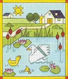 Discover recipes, home ideas, style inspiration and other ideas to try. Easy Drawings For Kids, Drawing For Kids, Animal Crafts For Kids, Art For Kids, Blackwork, Graph Paper Art, Drawing Exercises, Math Art, Simple Doodles