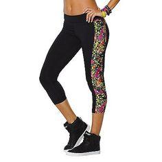 a5d89194b4ed7 X-Large, Black - Back To Black, Zumba Fitness WB Women's Capri Leggings