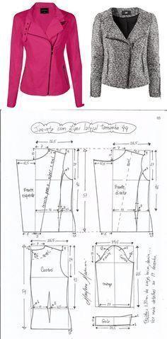 Выкройка женской куртки-косухи (Шитье и крой)   Журнал Вдохновение Рукодельницы