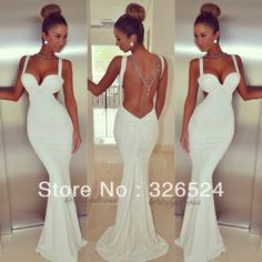 2014 hot&sexy evening dress sweetheart tank straps backless mermaid sexy prom dress 20140224 10% $108.00