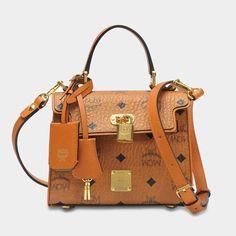 MCM Heritage Satchel Bag in Cognac Visetos ef8bf54adf004