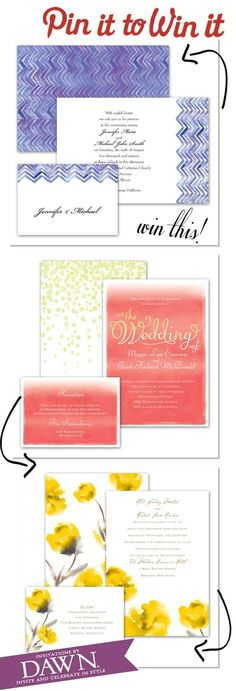 Pin it to Win it! Click here to enter this amazing giveaway! A 100.00 credit towards stationery at Invitations by Dawn! http://www.theperfectpalette.com/2013/01/sponsored-post-giveaway-invitations-by.html#