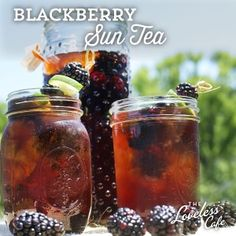 Have you ever made sun tea? Try with fresh blackberries for a delicious summertime twist.