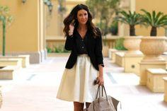 buy now, blog later - Skirt: H  Shirt: H  Blazer: Topshop