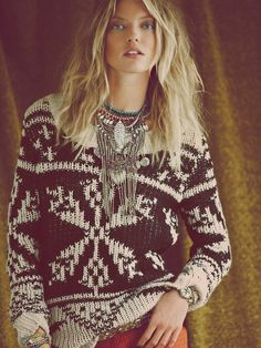 Free People Snowflake Pullover