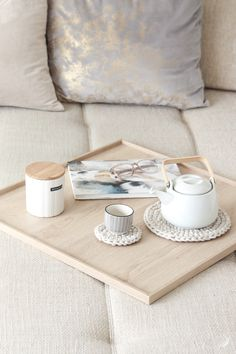 DIY Couch-Tablett Sofatablett Holztablett Tablett Doityourself Holz-DIYInterior Wood tray desgin table tray