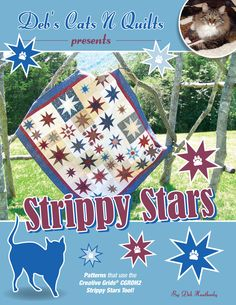 Strippy Stars By Heatherly, Deb  - This book is a companion to the new Creative Grids®  Strippy Stars Tool,CGRDH2.  The book includes 7 quilt patterns and 4 additional project patterns.