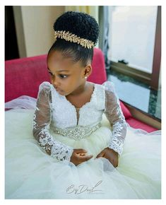 Kids Hairstyles For Wedding, Lil Girl Hairstyles, Black Kids Hairstyles, Girls Natural Hairstyles, Party Hairstyles, African Hairstyles, Bride Hairstyles, Natural Hair Styles, African American Girl Hairstyles