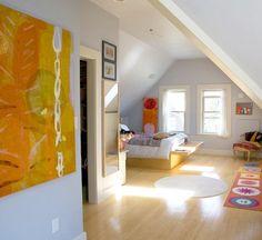 cozy attic master bedroom