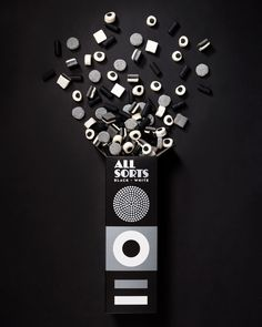 Allsorts Black & White Edition by Bond, Finland. #packaging #liquorice