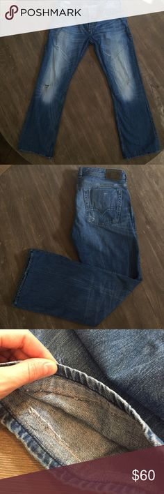 "Men's Diesel Zatiny Jeans Size 36 x 31 (hemmed properly to a 31"" inseam- see picture) VERY good condition, priced to sell Diesel Jeans Straight"