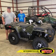 Thanks to Jason and Hunter Holmes from Hernando MS for getting a 2017 Polaris Sportsman 450. @HattiesburgCycles