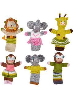 knit finger puppets