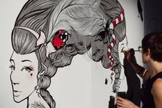 LIVE PAINTING by Miss Led, via Behance