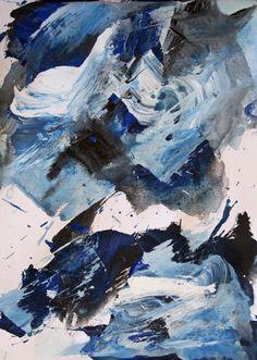 Sea Acrylic on canvas 2016 © Karino Amade