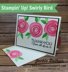 Klompen Stampers (Stampin' Up! Demonstrator Jackie Bolhuis): Swirly Bird Card Series #1