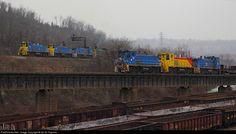 RailPictures.Net Photo: URR 28 Union Railroad EMD MP15DC at Braddock, Pennsylvania by Ian M. Hapsias