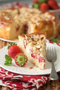 Strawberry-Cream Cheese Coffee Cake