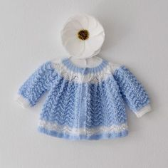 Knitted Baby Clothes Hand Knit Sweater Knitted by BornOnBowery Knitted Baby Cardigan, Knitted Baby Clothes, Hand Knitted Sweaters, Blue Sweaters, Sweater Cardigan, Cardigans, Baby Knitting Patterns, Baby Patterns, Hand Knitting