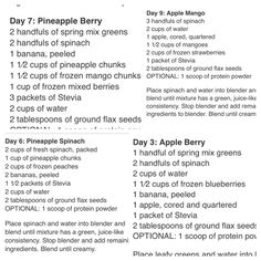 10day green smoothie cleanse. (Only using spinach)