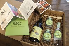 Gift package for catering clients including our private label food brand.