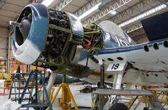 F6F Hellcat Aircraft Propeller, Aircraft Engine, Navy Aircraft, Ww2 Aircraft, Military Aircraft, Grumman F6f Hellcat, Radial Engine, Engine Pistons, Landing Gear