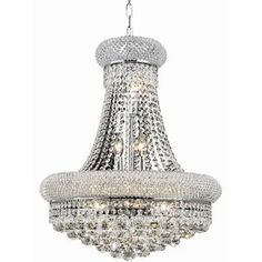 Crystal Chandelier dressed with Empress Crystal 25 Lights silver - Google Shopping