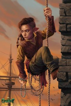 "we-are-rogue: "" Bincy Blumerholdt by Karol Bem ""Artwork for Gwent: The Witcher Card Game ""In all Novigrad, she has the hairiest feet and the stickiest hands. Dungeons And Dragons Characters, Dnd Characters, Fantasy Characters, Female Characters, Fantasy Races, Fantasy Rpg, Fantasy Women, Fantasy Portraits, Character Portraits"