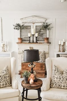 My favorite room in the house! Decor inspiration/ideas for the kitchen with my favourite design styles: French / Vintage / Industrial / Beachy / Shabby Chic Home Living Room, Living Room Decor, Vintage Home Decor, Diy Home Decor, Sweet Home, Country Style Homes, Modern Country, French Country Decorating, Simple House