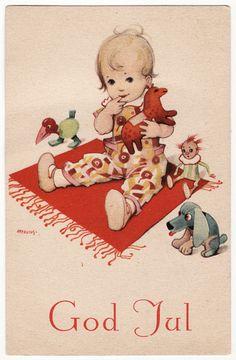 Helge Artelius (Vintage Swedish Christmas card by Helge Artelius)