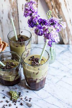 Vanilla Almond Matcha and Chocolate Lava Shake | halfbakedharvest.com @hbharvest