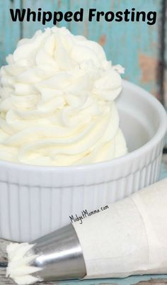 Homemade Whipped Frosting is a light take on the classic buttercream frosting. It has the flavor of whip cream but you are able to frost a cake with it.