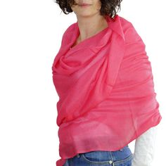 Oversized Scarf, CORAL Scarf, coral Pashmina, Pink scarves,infinity scarf, Large Wrap, cashmere scarves, Long scarf, knit scarf, pink shawl