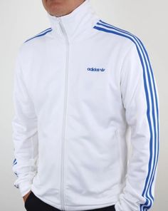 dffe784ee45b Adidas Originals - Adidas Beckenbauer Track Top In White   Blue - Osaka Pack