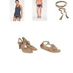 AJC tanktop, AJC short, J. JAYZ leren riem, Di Lauro Pump of sandalen dames