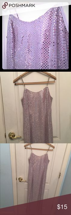 Maxi Sequin Glitter Sparkle Silver Dress Glitter sparkle Sequin silver maxi dress with jewel straps. Full length classy retro and fun. Could be good for a costume (Hollywood, trophy wife). Size 8P , 8 petite, brand Scott McClintock. Scott McClintock Dresses Maxi