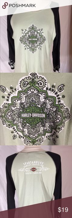 Women's Harley Davidson Top XL Excellent condition Harley-Davidson Tops Tees - Long Sleeve