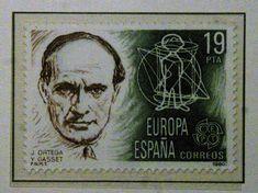 Sellos - Europa - España- José Ortega y Gasset