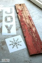 Learn how to make this super festive rustic JOY Christmas porch sign in minutes … Learn how to make this super festive rustic JOY Christmas porch sign in minutes with stencils, including a snowflake replacing the O! With Funky Junk's… Continue Reading → Sign Stencils, Christmas Porch, Old Signs, Porch Signs, Funky Junk, Snowflakes, Festive, Joy, Rustic
