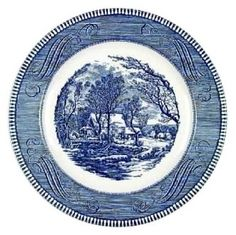 Currier and Ives dish - My grandma's dishes that I use as my everyday dishes.  love them!