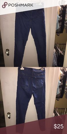 High waisted Jeans Great medium wash skinny high waisted jeans. Pacsun Bullhead Denim line. Very stretchy, jegging like material. Worn once. Bullhead Jeans Skinny