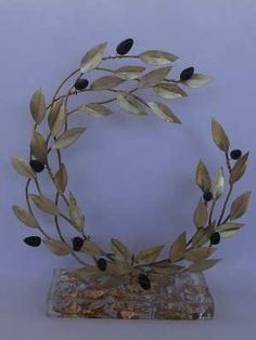 Olive Wreath, Greek Art, Olive Tree, Cold Porcelain, Decoupage, Diy And Crafts, Clay, Wreaths, Sport
